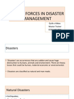 Armed Forces in Disaster Management