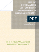 Use of Information System in Risk Management in Banking Industry