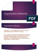 Organization behavior fymms