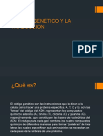 CODIGO GENETICO Y LA TRADUCCION