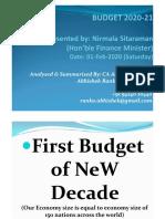 Budget 2020 by CA. Abhishek Ranka