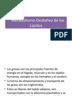 Metabolismo Oxidativo de los Lípidos