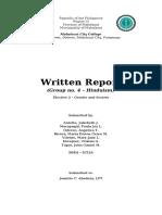 Written Report - Survey Interviews