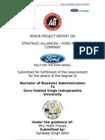 Strategic Alliance - Ford