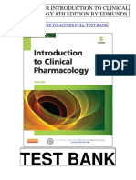 Introduction Clinical Pharmacology 8th Edmunds Test Bank