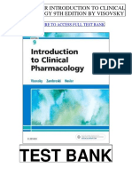 Introduction Clinical Pharmacology 9th Visovsky Test Bank