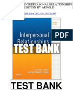 Interpersonal Relationships 7th Arnold Test Bank