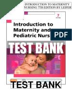 Introduction Maternity Pediatric Nursing 7th Leifer Test Bank
