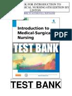 Introduction Medical Surgical Nursing 6th Linton Test Bank
