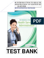 Introduction Health Services Administration 1st Elsevier Test Bank