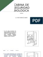 CABINA DE SEGURIDAD BIOLÓGICA