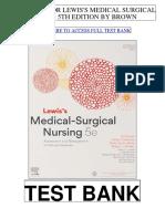 Lewiss Medical Surgical Nursing 5th Australian Brown Test Bank
