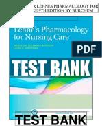Lehnes Pharmacology Nursing Care 9th Burchum Test Bank