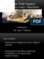 REPORT - FORCES THAT IMPACT  STUDENTS