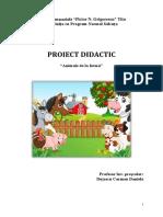 PROIECT DIDACTIC INSPECTIE  DEFINITIVAT ANIMALE DE LA FERMĂ