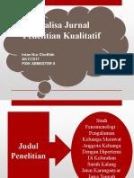 Analisa Jurnal Penelitian Kualitatif