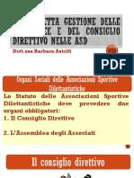 Corretta Gestione Consiglio Direttivo e Assemblee per Asd