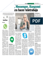 WhatsApp, Messenger, Hangsout o Skype Para Hacer Teletrabajo