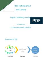 Vivad Se Vishwas (VSV) and Corona - Impact and Way Forward - CA Pritam Mahure and Asso.