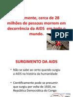 SLIDE SURGIMENTO-DESCOBERTA DA AIDS