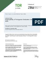 EERSA 2016 Empregabilidade alunos portugueses Casso e Lourdes