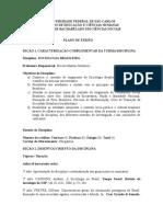Plano de Ensino. Sociologia Brasileira UFSCAR