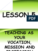 C1, L5 TEACHING AS YOUR VOCATION, MISSION AND PROFESSION.ppt