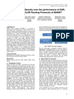 Effect of Node Density over the performance of DSR, TORA, and OLSR Routing Protocols of MANET