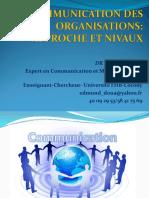 APPROCHE ET NIVEAUX DE LA COMMUNICATION DES ORGANISATIONS PDF