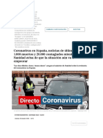 Coronavirus en España, noticias de última hora _ 1.000 muertos y 20.000 contagiados mientras Sanidad avisa de que la situación aún va a empeorar _ Salud
