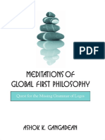 Gangadean, Ashok K. - Meditations of Global First Philosophy. Quest for the Missing Grammar of Logos - libro