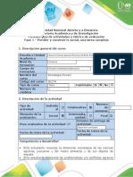 Guía de actividades y rúbrica de evaluación - Fase 1 - Percibir y construir lo social, una tarea compleja