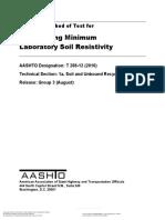 AASHTO T288-12 (2016) - Deternmining Minimum Laboratory Soil Resistivity