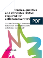 Competencies, qualities & attributes required for collaborative working