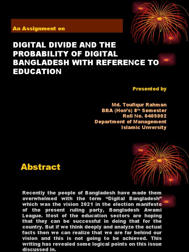 digital bangladesh assignment