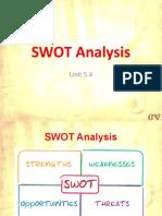 5.4 SWOT Analysis