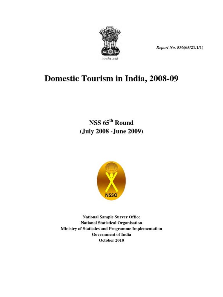 c9f941c0e Domestic Tourism in India - NSSO 2009