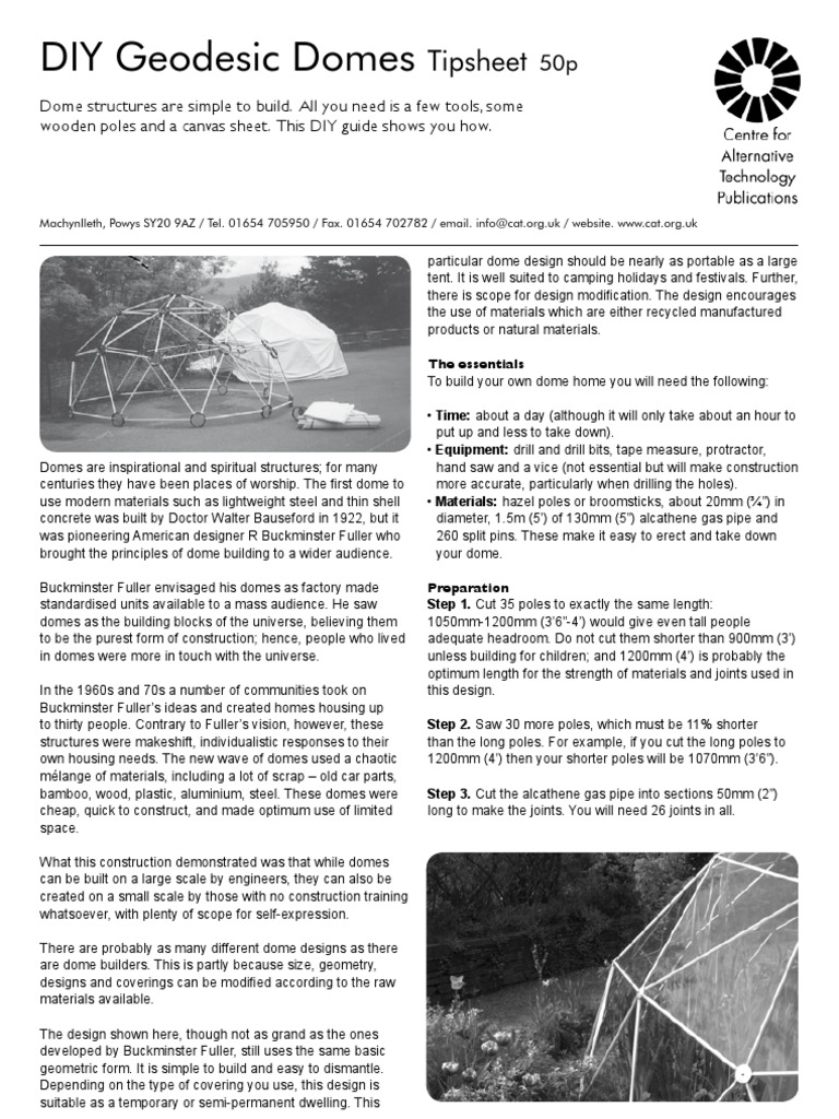 DIY Geodesic Domes | Dome | Tent
