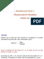 4. Pharmaceutical calculation