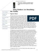 Working Mothers Are Benefiting the Family