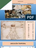 RENACIMIENTO Y HUMANISMO  8º A y B