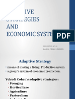6 ADAPTIVE STRATEGIES AND ECONOMIC SYSTEMS