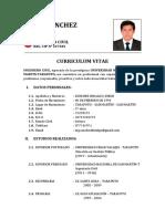 CV - ING. JORGE SANCHEZ HIDALGO