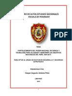 """TESIS """"FORTALECIMIENTO DEL PODER NACIONAL EN CIENCIA Y TECNOLOGÍA PERÚ. 2004-2013"""""""