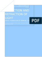Study of Reflection and Refraction of Light