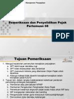 pemeriksaan dan penyidikan pajak ppt