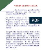 ESTRUCTURA DE LOS SUELOS