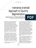 A Convenience-oriented approach to country segmentation