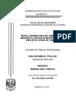 MODELO SEDIMENTARIO DEL KIMMERIDGINAO MEDIANTE EL ANALISIS DE MICROFACIES EN EL AREA DE KU, SONDA DE CAMPECHE