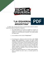 LA IZQUIERDA ARGENTINA